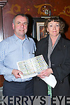 John McEnery and Therese McDonagh looking for the winner at the Aintree Grand National preview night in the Killarney Avenue on Friday night..