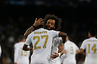 Real Madrid CF's Rodrygo Goes and Real Madrid CF's Marcelo Vieira celebrates after scoring a goal during UEFA Champions League match, groups between Real Madrid and Galatasaray SK at Santiago Bernabeu Stadium in Madrid, Spain. November, Wednesday 06, 2019.(ALTERPHOTOS/Manu R.B.)<br /> Champions League 2019/2020  <br /> Real Madrid - Galatasaray<br /> Foto Alterphotos / Insidefoto <br /> ITALY ONLY