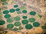 Center Pivot Irrigation, San Juan County, Northern New Mexico. USA Fly-over County-from the window seat of Southwest #1882 from SMF to DAL, September 2016