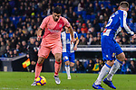 Luis Suarez of FC Barcelona (L) in action during the La Liga 2018-19 match between RDC Espanyol and FC Barcelona at Camp Nou on 08 December 2018 in Barcelona, Spain. Photo by Vicens Gimenez / Power Sport Images