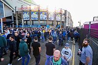 Leeds United fans make their way into Elland Road<br /> <br /> Photographer Alex Dodd/CameraSport<br /> <br /> The EFL Sky Bet Championship - Leeds United v Bolton Wanderers - Saturday 23rd February 2019 - Elland Road - Leeds<br /> <br /> World Copyright © 2019 CameraSport. All rights reserved. 43 Linden Ave. Countesthorpe. Leicester. England. LE8 5PG - Tel: +44 (0) 116 277 4147 - admin@camerasport.com - www.camerasport.com