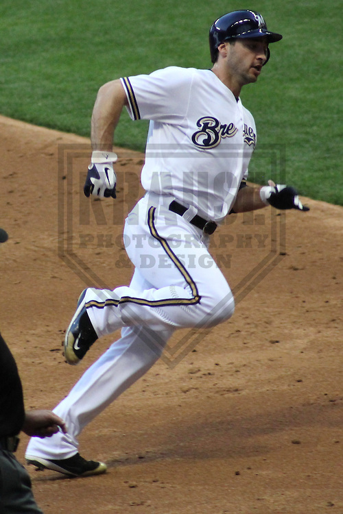 MILWAUKEE - June 2012: Ryan Braun (8) of the Milwaukee Brewers during a game against the Toronto Blue Jays on June 18, 2012 at Miller Park in Milwaukee, Wisconsin. (Photo by Brad Krause). ..