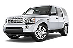 Stock pictures of low aggressive front three quarter view of a 2014 Land Rover LR4 Base 5 Door SUV Low Aggressive