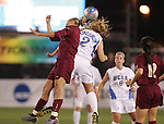 Florida State's Viola Odebrecht (l) and UCLA's Stacy Lindstrom (2) challenge for a header. The UCLA Bruins defeated the Florida State University Seminoles 4-0 at Aggie Soccer Stadium in College Station, Texas, Friday, December 2, 2005.