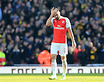 Arsenal's Olivier Giroud looks on dejected after Watford's second goal during the Emirates FA Cup match at The Emirates Stadium.  Photo credit should read: David Klein/Sportimage