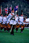 Royal Irish Regiment/ Longs Peak Scottish Festival/ on parade/ Estes Park, CO