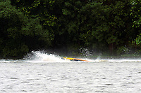 Frame 10: Marissa Affholder(151-M) races into turn 2 chasing 17-M and flips over. (stock outboard runabout)