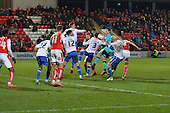 15/03/2016 Sky Bet League 1 Fleetwood Town v Walsall<br /> Chris Maxwell joins the attack as Fleetwood press for an equaliser
