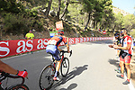 Vincenzo Nibali (ITA) Bahrain-Merida on the slopes of Sierra de la Alfaguara  during Stage 4 of the La Vuelta 2018, running 162km from Velez-Malaga to Alfacar, Sierra de la Alfaguara, Andalucia, Spain. 28th August 2018.<br /> Picture: Eoin Clarke   Cyclefile<br /> <br /> <br /> All photos usage must carry mandatory copyright credit (&copy; Cyclefile   Eoin Clarke)