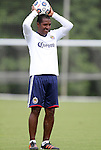 04 June 2012: Assistant coach Carlos Llamosa (COL). Chivas USA held a training session on Field 6 at WakeMed Soccer Park in Cary, NC the day before playing in a 2012 Lamar Hunt U.S. Open Cup fourth round game.