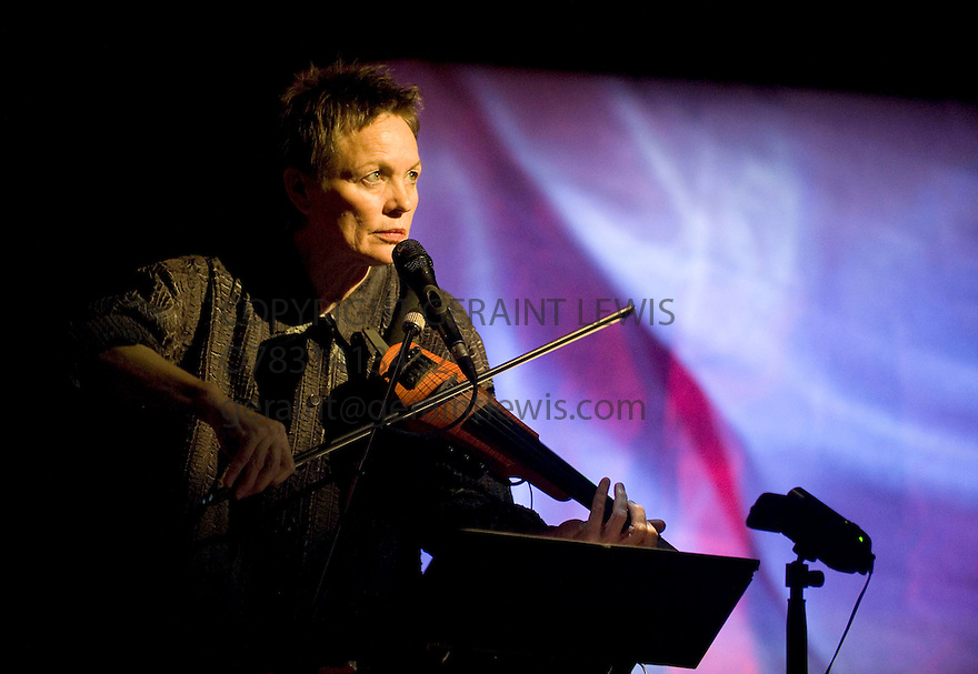 Delusion with Laurie Anderson.Opens at The Barbican Theatre Theatre on 14/4/10 Credit Geraint Lewis