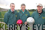 Over the Water Rowing Club will hold a 7 a-side fundraising soccer blitz at the South Kerry Sports Complex, Cahersiveen on St Stephens Day, pictured here l-r; Ger O'Sullivan, Denis Moriarty & D.J. O'Connor.  Spaces are still available please contact Bridie O'Shea @ 087 2777070 for more information.