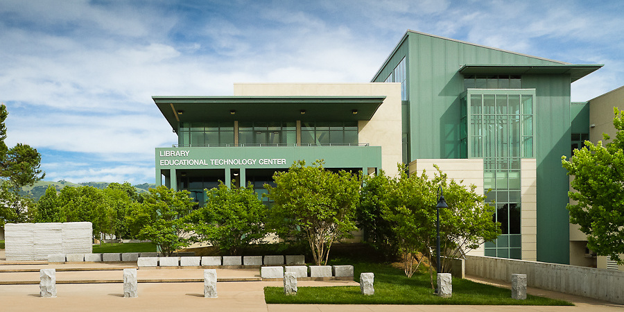 Exterior image of the Library and Education Technology Center on the Evergreen Valley College Campus