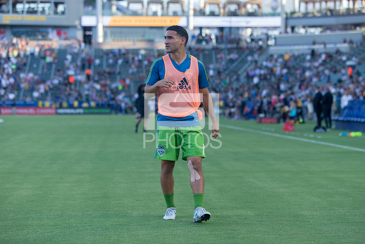 Carson, CA - Saturday July 29, 2017: Cristian Roldan during a Major League Soccer (MLS) game between the Los Angeles Galaxy and the Seattle Sounders FC at StubHub Center.