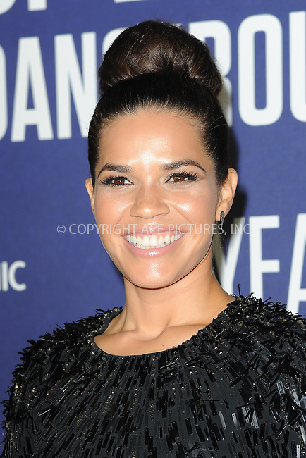 www.acepixs.com<br /> September 21, 2016  New York City<br /> <br /> America Ferrera attending National Geographic's 'Years Of Living Dangerously' new season world premiere at the American Museum of Natural History on September 21, 2016 in New York City. <br /> <br /> Credit: Kristin Callahan/ACE Pictures<br /> <br /> <br /> Tel: 646 769 0430<br /> Email: info@acepixs.com