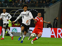 Leroy Sane (Deutschland Germany) gegen Aleksey Ionov (Russland, Russia) - 15.11.2018: Deutschland vs. Russland, Red Bull Arena Leipzig, Freundschaftsspiel DISCLAIMER: DFB regulations prohibit any use of photographs as image sequences and/or quasi-video.