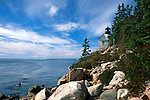Bass Harbor Head Lighthouse, Acadia National Park, Maine, USA