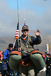 Daniel Wassmund, with Nevada State Parks, walks in the annual Nevada Day parade in Carson City, Nev. on Saturday, Oct. 29, 2016. <br />
