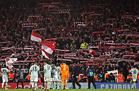 The Bayern Munich players show their appreciation for  the travelling fans at the final whistle<br /> <br /> Photographer Rich Linley/CameraSport<br /> <br /> UEFA Champions League Round of 16 First Leg - Liverpool and Bayern Munich - Tuesday 19th February 2019 - Anfield - Liverpool<br />  <br /> World Copyright © 2018 CameraSport. All rights reserved. 43 Linden Ave. Countesthorpe. Leicester. England. LE8 5PG - Tel: +44 (0) 116 277 4147 - admin@camerasport.com - www.camerasport.com