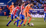 Atletico de Madrid's Juanfran Torres and Koke Resurrección and SD Eibar's Tiago Manuel Dias during Copa del Rey match between Atletico de Madrid and SD Eibar at Vicente Calderon Stadium in Madrid, Spain. January 19, 2017. (ALTERPHOTOS/BorjaB.Hojas)