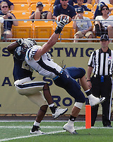 Maine tight end Derek Buttles scores. The Pitt Panthers beat the Maine Black Bears 35-29 at Heinz Field, Pittsburgh, PA on September 10, 2011.