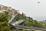 Another wet day for the riders during Stage 3 of Il Giro di Sicilia running 186km from Caltanissetta to Ragusa, Italy. 5th April 2019.<br /> Picture: LaPresse/Fabio Ferrari | Cyclefile<br /> <br /> <br /> All photos usage must carry mandatory copyright credit (&copy; Cyclefile | LaPresse/Fabio Ferrari)