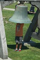 Boy in Boston Light Bell