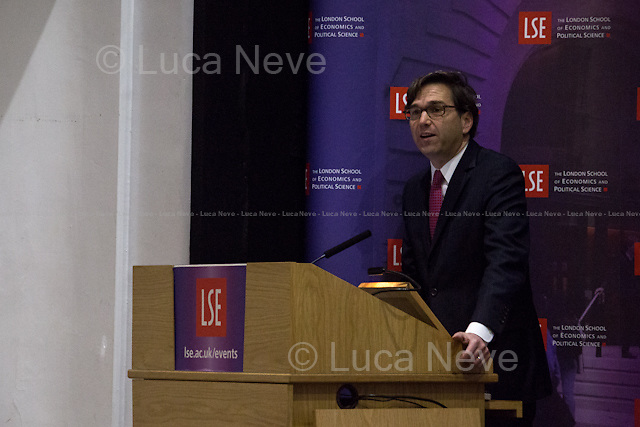 Jason Furman.<br /> <br /> London, 05/11/2014. Today, LSE (London School of Economics) presented a public lecture called &quot;Structural Opportunities in the US Economy&quot; hosted by Jason Furman (American economist; Chairman of the Council of Economic Advisers, CEA; former Principal Deputy Director of the National Economic Council Previously; former advisor to candidate Barack Obama during the 2008 presidential campaign; former Special Assistant to the President for Economic Policy during the Clinton Administration; Ph.D. in Economics and M.A. in Government from Harvard University and a M.Sc. in Economics from LSE). Chair of the event was Professor John Van Reenen (British economist; Professor in the Department of Economics and Director of the Centre for Economic Performance - CEP - at the London School of Economics).<br /> <br /> Here there is the link to the podcast of the lecture: http://bit.ly/1xiEENw