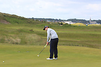 David Langley (Castle Royle) on the 4th green during Round 1 of the The Amateur Championship 2019 at The Island Golf Club, Co. Dublin on Monday 17th June 2019.<br /> Picture:  Thos Caffrey / Golffile<br /> <br /> All photo usage must carry mandatory copyright credit (© Golffile | Thos Caffrey)