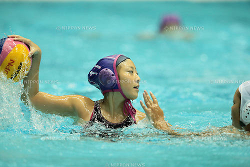 Saki Suwabe (Fujimura), <br /> OCTOBER 12, 2014 - Water Polo : <br /> The 90th All Japan Water Polo Championship, <br /> Women's Final <br /> between CNC Water Polo Club Biwako 5-11 Fujimura <br /> at Tatsumi International Swimming Pool, Tokyo, Japan. <br /> (Photo by AFLO SPORT) [1205]