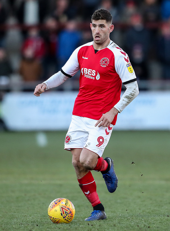 Fleetwood Town's Ched Evans  <br /> <br /> Photographer Andrew Kearns/CameraSport<br /> <br /> The EFL Sky Bet League One - Fleetwood Town v Charlton Athletic - Saturday 2nd February 2019 - Highbury Stadium - Fleetwood<br /> <br /> World Copyright © 2019 CameraSport. All rights reserved. 43 Linden Ave. Countesthorpe. Leicester. England. LE8 5PG - Tel: +44 (0) 116 277 4147 - admin@camerasport.com - www.camerasport.com
