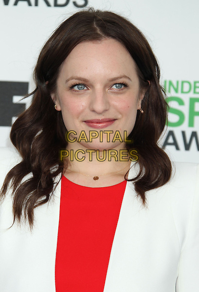 1 March 2014 - Santa Monica, California - Elisabeth Moss. 2014 Film Independent Spirit Awards held at Santa Monica Beach. <br /> CAP/ADM/RE<br /> &copy;Russ Elliot/AdMedia/Capital Pictures