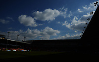 A general view of Bloomfield Road, home of Blackpool FC<br /> <br /> Photographer Kevin Barnes/CameraSport<br /> <br /> The EFL Sky Bet League One - Blackpool v Peterborough United - Saturday 13th April 2019 - Bloomfield Road - Blackpool<br /> <br /> World Copyright &copy; 2019 CameraSport. All rights reserved. 43 Linden Ave. Countesthorpe. Leicester. England. LE8 5PG - Tel: +44 (0) 116 277 4147 - admin@camerasport.com - www.camerasport.com