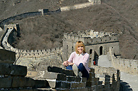 Swiss singer and TV presenter Francine Jordi visits Mutianyu section of China's Great wall in Beijing, China. 23-Mar-2016
