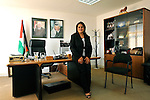 Khouloud Daibes, Palestinian tourism minister, at her office in Bethlehem, West Bank May 03, 2008.<br /> <br /> (Photo by Ahikam Seri).