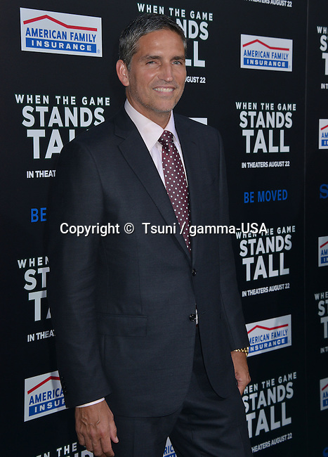 Jim Caviezel 123 at the When The Game Stands Tall Premiere at the Arclight Theatre in Los Angeles.