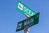 Ocean Ave and Main St in Seal Beach California
