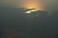 Daytime aerial view of heavy industry on Tokyo Bay in the Kanto region following the 311 Tohoku Tsunami near Tokyo, Japan  © LAN