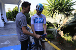 D.S. Nico Portal Team Sky morning training ride before Stage 1 of the La Vuelta 2018, an individual time trial of 8km running around Malaga city centre. Mijas, Spain. 23rd August 2018.<br /> Picture: Eoin Clarke | Cyclefile<br /> <br /> <br /> All photos usage must carry mandatory copyright credit (&copy; Cyclefile | Eoin Clarke)
