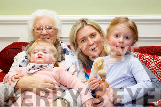 81st Birthday: Martha Buckley, Ballybunion celebrating her 81st birthday with her daughter and grand children Fiadh, Breda & Aoileanne Reen at the Listowel Arms Hotel on Saturday afternoon last.