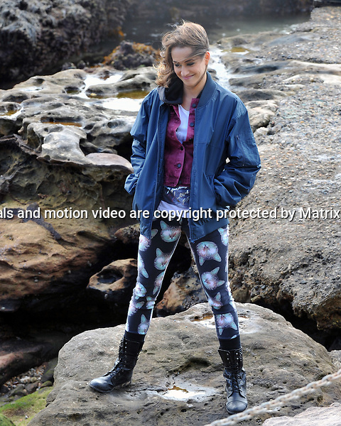 9th September, 2014 SYDNEY AUSTRALIA<br /> EXCLUSIVE<br /> Pictured,  Isabella Giovinazzo sand Alec Snow, cast members of Home and Away doing scenes at  &quot;Summer Bay&quot; , Palm Beach, NSW. <br /> <br /> *No internet without clearance*.MUST CALL PRIOR TO USE +61 2 9211-1088. Matrix Media Group.Note: All editorial images subject to the following: For editorial use only. Additional clearance required for commercial, wireless, internet or promotional use.Images may not be altered or modified. Matrix Media Group makes no representations or warranties regarding names, trademarks or logos appearing in the images.