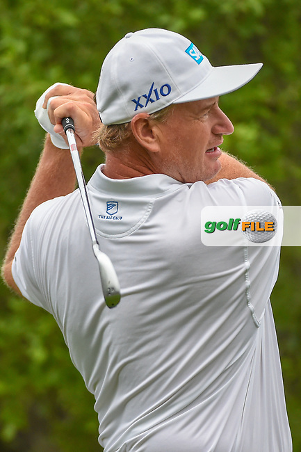 Ernie Els (RSA) watches his tee shot on 1 during day 3 of the Valero Texas Open, at the TPC San Antonio Oaks Course, San Antonio, Texas, USA. 4/6/2019.<br /> Picture: Golffile | Ken Murray<br /> <br /> <br /> All photo usage must carry mandatory copyright credit (© Golffile | Ken Murray)