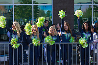 Seattle Seahawks Cheerleaders, Seahawks 12K Run 2016, The Landing, Renton, Washington, USA.