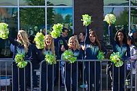 Seattle Seahawks Cheerleaders, Seahawks 12K Run 2016, The Landing, Renton, Washington, USA.