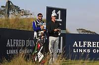 Gary Hurley (IRL) on the 11th tee during Round 3 of the 2015 Alfred Dunhill Links Championship at Kingsbarns in Scotland on 3/10/15.<br /> Picture: Thos Caffrey | Golffile