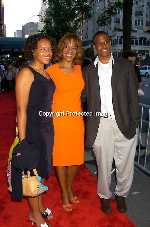 "Gayle King and her children Kirby and William..at the World Premiere of ""The Manchurian Candidate"" ..on July 19, 2004 at the Clearview Cinema's Beekman ..Theatre. Photo by Robin Platzer, Twin Images"