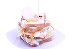 boccadillo de jamon y queso con huevo frito<br /> Entrepa de pernil i formatge amb ou ferrat
