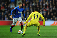 James Tavernier of Rangers looks to get past Jaume of Villarreal CF during Rangers vs Villarreal CF, UEFA Europa League Football at Ibrox Stadium on 29th November 2018