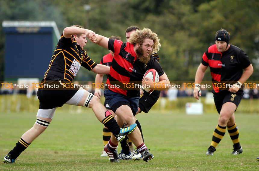 Current Blackheath prop James Cleverly storms through the Bromley defence - Bromley RFC XV vs Wasps & Blackheath Past Legends XV - Legends Rugby Match at Bromley RFC, Hayes, Kent - 16/10/11 - MANDATORY CREDIT: Helen Watson/TGSPHOTO - Self billing applies where appropriate - 0845 094 6026 - contact@tgsphoto.co.uk - NO UNPAID USE.