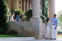 King of Spain Felipe VI, Queen Letizia Ortiz, Princess Leonor (2L) and Princess Sofia (L)